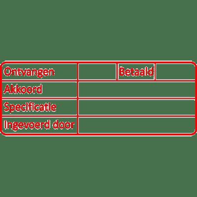 administratie stempel, nr.3037, afmeting: 70mm x 30mm