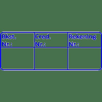 boekhouding stempel, nr.3040, afmeting: 70mm x 30mm