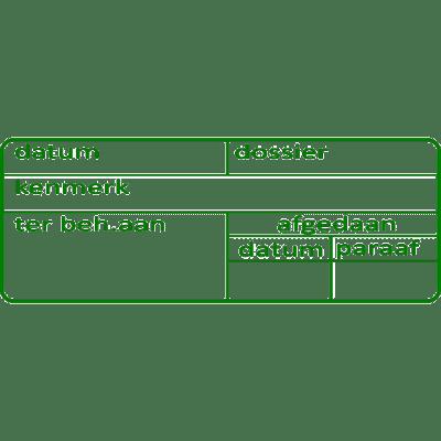 administratie stempel, nr.3046, afmeting: 70mm x 30mm