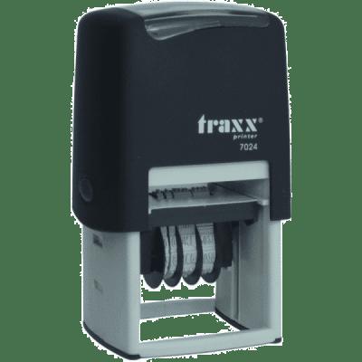 Tekst met datum stempel 4mm, compacte-uitvoering nr.7024, afmeting: 40mm x 40mm