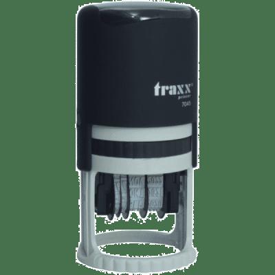 Tekst met datum stempel 4mm, compacte-uitvoering nr.7140, afmeting: rond 40mm
