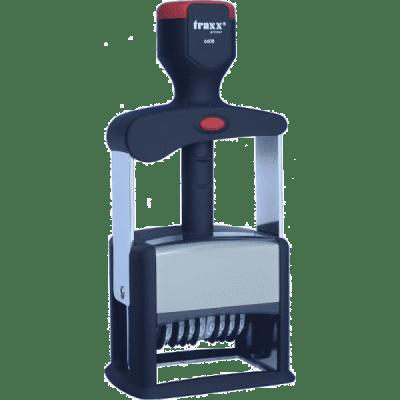Professional 6608, zelfinktend 8 cijferig met tekst-logo, afmeting: 58mm x 38mm