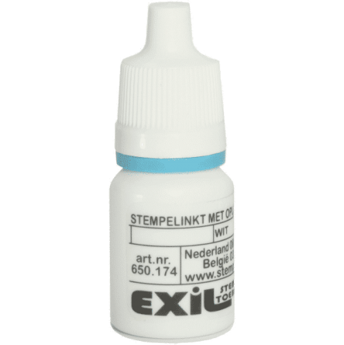 sneldrogende inkt, wit/8ml