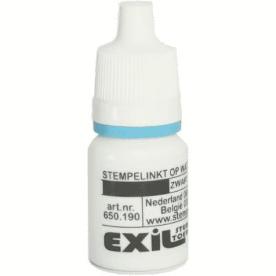 sneldrogende plastic- en glas inkt, zwart/8ml