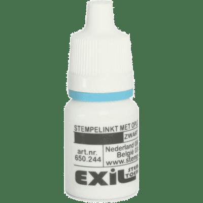 textiel inkt voor zelfinkters, zwart/8ml
